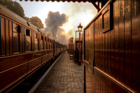 soft morning light at Bewdley station