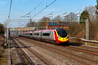 _DSC7233 Not much seems to be coming south today so as the sun was shining Virgin Pendolino hammers past 13.18pm 1.3.12