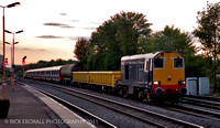 _DSC2049 A pair of class 20 tnt with Barrier wagons and tube stock approaching Leamington stn